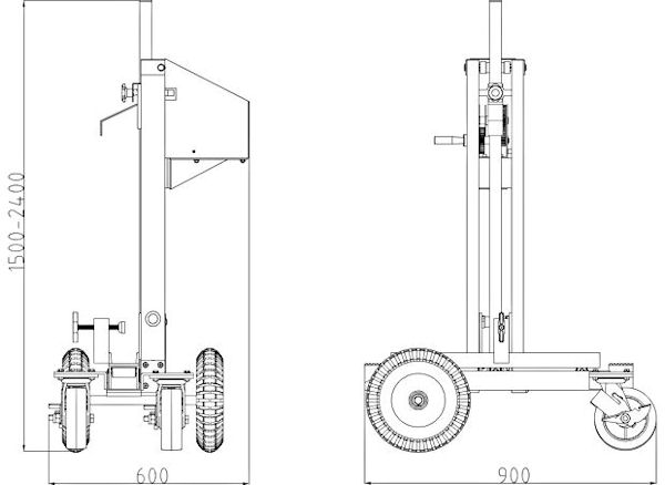 Elevating Hand Cart Specifications